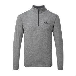 Calvin Klein Golf Newport Half Zip Silver - NWOT